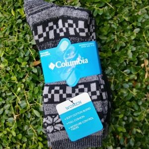 Black and Gray Columbia Crew Socks